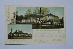 Ansichtskarte Stolpen in Sachsen Schlossrestaurant 1904