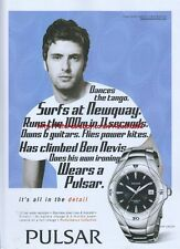 Pulsar Performance Collection Kinetic Watch 2005 Magazine Advert #2526