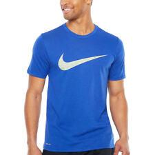 Mens Nike DRI-FIT Swoosh Tee Shirt Big and Tall 839893405 Athletic Cut Blue