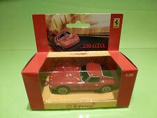 HOTWHEELS SHELL V-POWER HOLLAND FERRARI 250 GTO - 1:38 RED - RARE SELTEN - NMIB