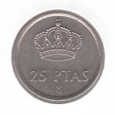 Spagna 25 PESETAS 1982 COPPER-NICKEL MEDAGLIA-Juan Carlos I