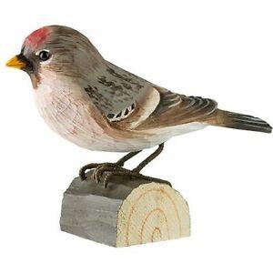 Birkenzeisig handgeschnitzter Vogel Holz, Neuheit