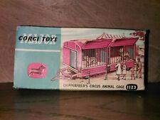 Vintage Corgi Major Toys 1123 Circus Animal Cage with 2 lions and polar bears