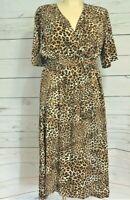 Plus Size Wrap Dress – Animal Print – Size 22 & 24 – Love Your Wardrobe