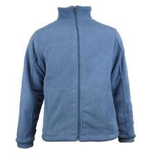 Cappotti e giacche da uomo blu in pile con cerniera