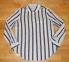 New w Tags!  GIRL KRAZY  Women's Jrs Sz L Boyfriend SHIRT Button-Front