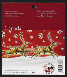Canada  Booklet of 12 — Christmas, Toronto Santa Claus Parade #2069 (BK298) —MNH