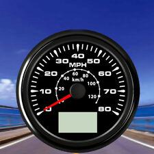 "1PC Φ85mm/3-3/8"" 0-80MPH GPS Speedometer 0-120km/h Speed Odometer Trip Meter Cog"