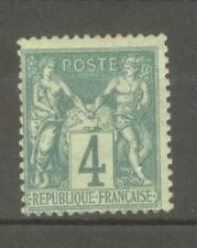 "FRANCE STAMP TIMBRE N° 63 "" TYPE SAGE 4c VERT "" NEUF xx TB A VOIR"