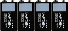 4 x Powerex Maha Imedion 9V 9.6V 230mAh Rechargeable NiMH Batteries