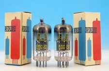 2x Matched Vintage Ecc81 60's Rft / Funkwerk Erfurt / Pair Tubes 12At7 Ecc801s