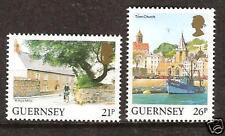 Guernsey # 453-4 Mnh Landscapes Boat