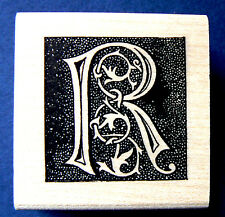 Monogram Letter R  rubber stamp  WM P41