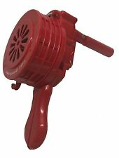 Handheld Red ABS poly Hand Crank Siren - Emergency Warning Device -HC10P-RED