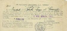 35° Reggimento Artiglieria Friuli 1942 Autorizzazione Distintivo di Guerra