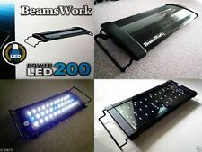 "Beamswork aquarium high Power LED 200 light lamp 30-45 cm 11""-17"" tank bright"