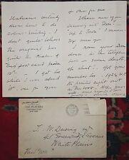 OLIVER HERFORD AUTOGRAPHED / SIGNED Letter Envelope American Author Artist 1920