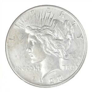 1923-D Peace Dollar AU About Uncirculated JO/2276