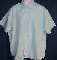 Arrow Men's XXL Blue Willow Career Casual Short Sleeve Shirt New Tags
