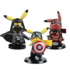 Deadpool Captain America Darth Vader Pikachu PVC Figure Collectible Model Toy