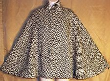 iLaya Couture Womens Black/White Pin up,Retro, style Wool Cape Sz-S
