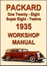 PACKARD 1935, ONE TWENTY, EIGHT, SUPER EIGHT & TWELVE WORKSHOP MANUAL