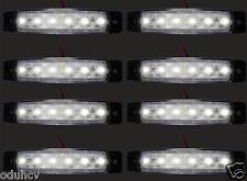 8x 12V 6 LED LATO post. INDICATORE BIANCO Faro Camion rimorchio telaio di VAN