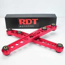 RED ANODIZED RACING CNC ALUMINUM REAR LOWER CONTROL ARM 96-00 HONDA CIVIC EK