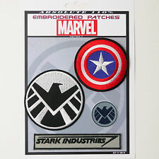 CAPTAIN AMERICA / SHIELD / IRON MAN - Iron-On Patch Super Set #019 FREE POSTAGE