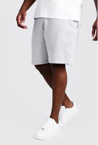 Mens Fleece Jersey Shorts Mid Or Short Length Basic Gymwear Jogging Gym Sports