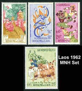 Laos C39-C42 MNH Michel 113-116. Makha Bousa Festival 1962 Set of 4 Air Mail