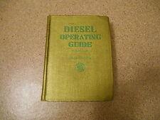 Old 1936 Book Diesel Operating Guide Rosbloom 1st Edition Engineering Institute