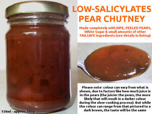 FAILSAFE! Low-Salicylates PEAR CHUTNEY Garlic+Coriander