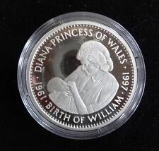 1997 1 oz (environ 28.35 g) Fine Silver Proof Liberia 20 $ pièce Princesse Diana la naissance de William