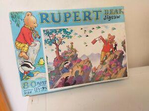 VINTAGE..COLLECTABLE..RUPERT BEAR...JIGSAW PUZZLE..BEAVERBROOK NEWSPAPERS..1970