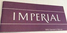IMPERIAL 1969 OPERATORS MANUAL CHRYSLER CORPORATIONS