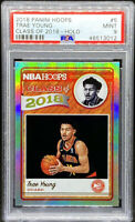 Trae Young 2018-19 Panini Hoops Class of 2018 Holo Rookie RC PSA 9 POP 8