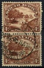 South Africa 1936 SG#46c, 4d Native Kraal Used Vert Pair #D55853