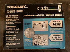 """New listing 5 Boxes - Toggler, 25 Pack, 3/8""""-16, Bc Toggle Bolt 21015"""
