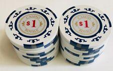 (25) $1 CASINO ROYALE POKER CHIPS