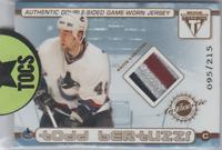 Bertuzzi/Morrison 2002 Titanium Private Stock Dual Sided Patch Card 095/215