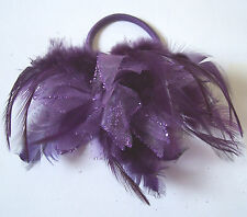 Feather and Glitter Hair Accessory - 4 Colours - Elastic Wrist Evening Wear