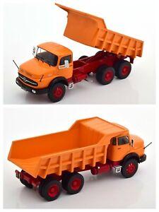 1/43 IXO Truck Mercedes-Benz Lak 2624 Truck A Benne Tilting 1979 Orange