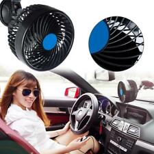 12V Car Vans Mini Portable Suction Cup Air Fan 360° Rotating Strong Wind Cooler