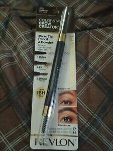 REVLON Colorstay Brow Creator Micro Pencil Powder and Brush #610 Dark Brown New