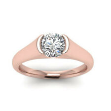 Diamantring Solitär 0.50 Ct. Brillant D IF 18K 750 Roségold + GIA Zertifikat
