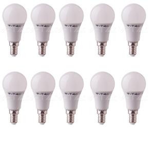 10 LAMPADINE LED V-TAC BULBO E14 DA 9W LAMPADE LUCE CALDA NATURALE FREDDA SAMSUN