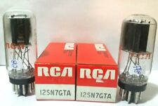 2 RCA  12SN7 GTA Black Plate  Vacuum Tubes Tested New / NOS On Calibrated TV 7 !