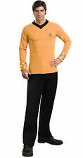 Star Trek Classic Gold Shirt Deluxe Adult Mens Costume Fancy Dress Outfit