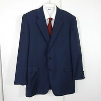 navy HICKEY FREEMAN LORO PIANA SUPER 120S jacket blazer sport coat 100% wool 44R